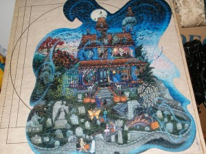 Halloween puzzle Haunted house